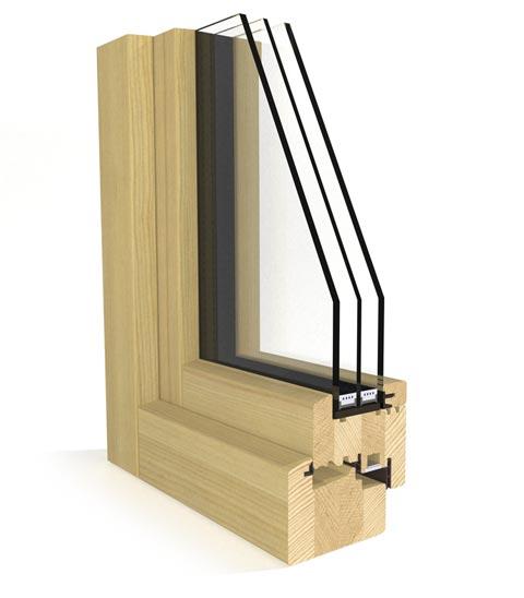 Perfil carpintería Carpintek modelo Energytek triple vidrio 89mm