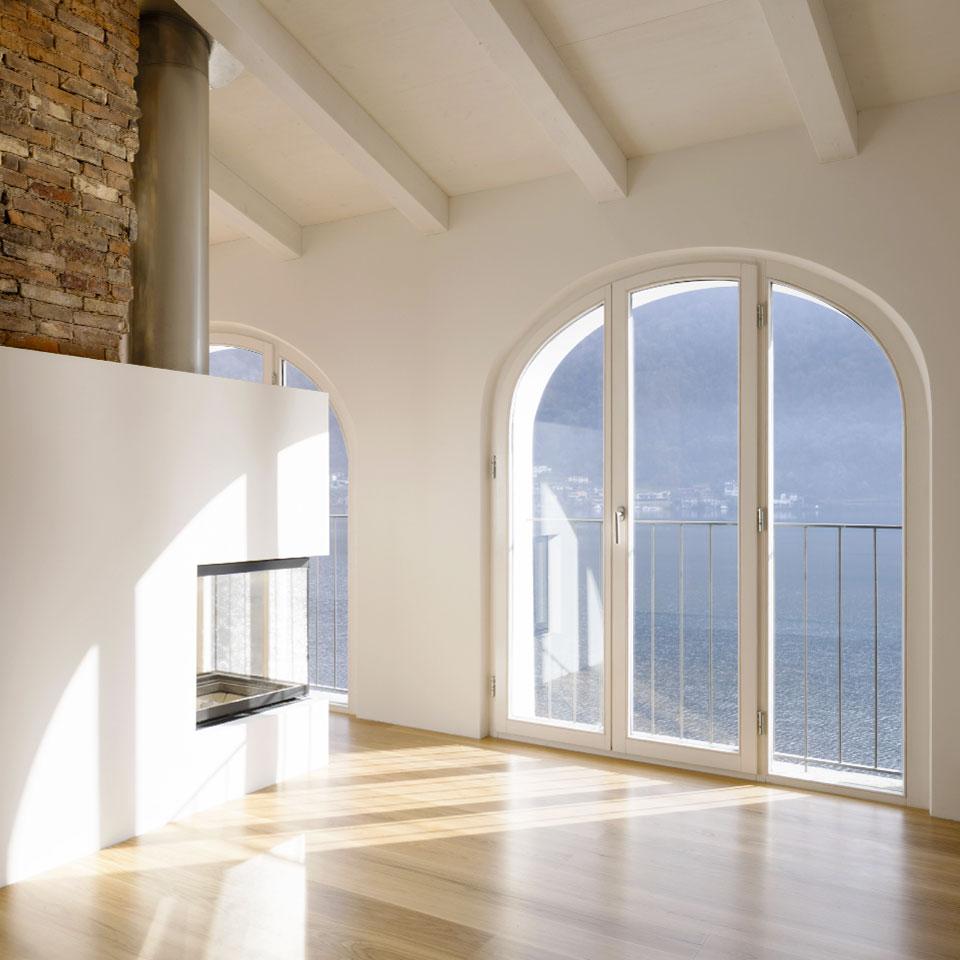 Salón con perfil de ventana Energytek