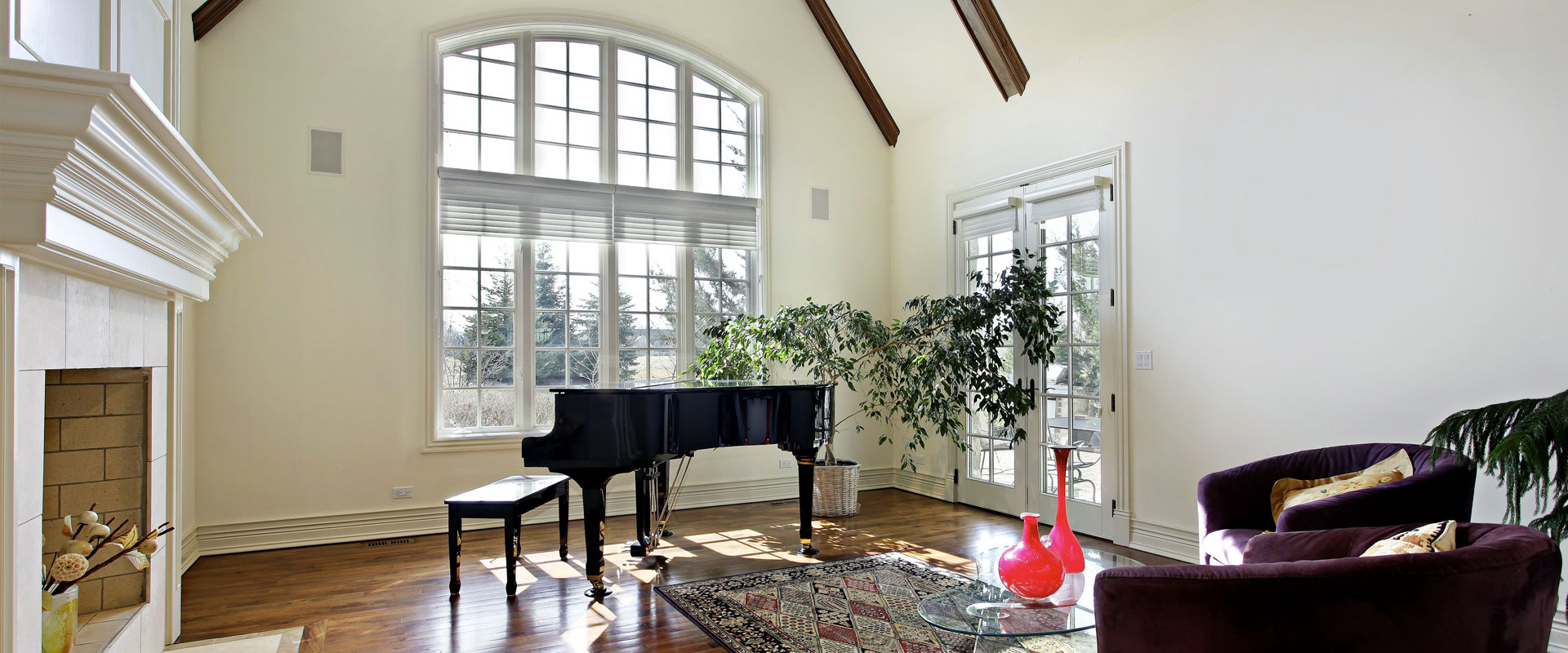 Salón con perfil de ventana LightTek